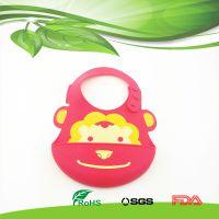 婴幼儿用品硅胶围兜,食品级原材料硅胶围嘴围兜