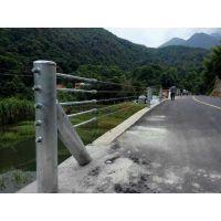 山区专用绳索护栏、钢丝绳缆索隔离栏、热镀锌材质人字柱