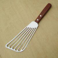 原生态实木柄铁板煎铲 不锈钢牛扒铲 披萨铲 鱼铲 料理铲 烹饪铲