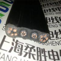 扁平分组耐折弯扁电缆线柔性耐磨抗拉电梯随行电缆3*2.5/3*4扁线