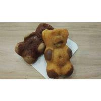 双色四点成型小熊蛋糕设备 煜丰蛋糕生产线设备厂
