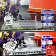 北京市定做企业战略合作项目签约纪念品,订单签约仪式留念礼品,水晶钟表笔筒水晶摆件