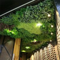 厂家直销仿真植物背景墙草绿植墙欢迎合作东莞紫萱工艺品厂