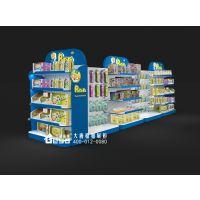 超市货架-婴儿用品展示柜-钢木货架厂家订制批量优质
