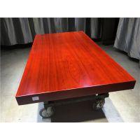 胡桃木实木大板桌现代简约办公家具红花梨老板桌巴花餐桌茶几吧台