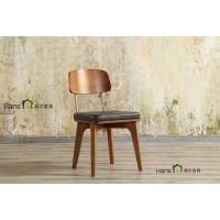 徐家汇西餐厅实木椅子 西餐厅简约椅子订做 上海韩尔家具厂供应