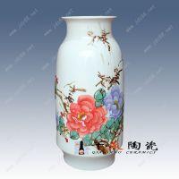 千火陶瓷 纯手工景德镇手绘高档陶瓷花瓶 家居工艺品 摆件插花多用