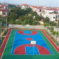 陆丰广场丙烯酸球场材料 防滑篮球场地面铺设 柏克施工球场专业团队
