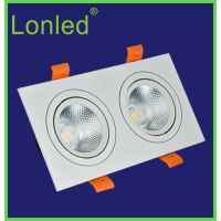 lonled LED天花灯 商业照明 高亮 2*5W cob天花灯 方形射灯质保三年 隔离恒流
