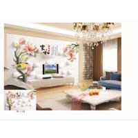 大型壁画电视背景墙纸壁纸 古典中式 梅兰竹菊字画 卧室 客厅壁画