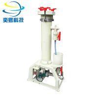 质保2年 电镀过滤机 耐酸碱pp过滤器 带泵浦 YQXSP1001 pp材质 高温pvdf