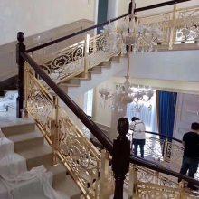 浪漫舒心金属镂空雕花不锈钢青古铜楼梯护栏