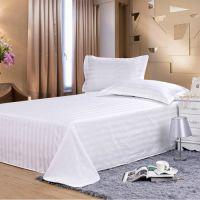 3cm缎条全棉床单 红河酒店用品 天天满酒店用品