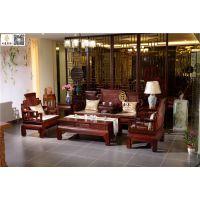 仿古古典沙发供应-东阳红木沙发销售-如金红木客厅家具7件套