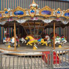 游乐场大型商场小区豪华旋转木马简易移动木马水陆战车小火车儿童