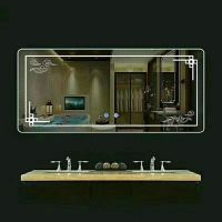简约圆形浴室镜壁挂圆镜卫浴镜子无框卫生间镜化妆镜防爆贴墙定制