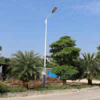 抱箍式单臂路灯款式图 8米定做款路灯杆样式 清远镀锌路灯杆厂家