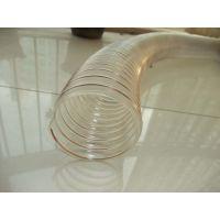 雨泽塑胶供应透明塑料钢丝管PU耐磨钢丝伸缩软管90mm弹性铜丝吸尘风管工业软