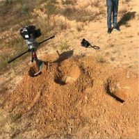 拖拉机带悬挂式地钻挖坑机 蔓农汽油挖坑机视频