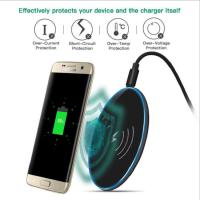 苹果X手机底座QI通用圆形无线快充底座 智能手机通用无线充电