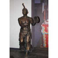 东莞原著雕塑厂家制造 古人行商雕像 景区公园摆件
