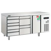 平冷商用冷柜豪华披萨店奶茶店后厨厨房冰箱风冷卧式冷藏柜保鲜柜滨州美厨