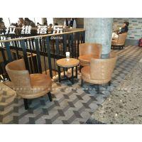 西安咖啡店西餐店茶舍高档会所实木桌椅卡座吧台沙发家具生产定制