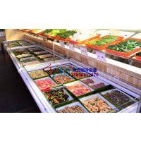 自助海鲜火锅菜品冰台,九江3米点菜柜上敞口,徽点四面展示取菜保鲜柜