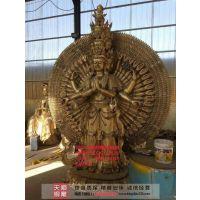河南菩萨、天顺雕塑、文殊普贤铜菩萨