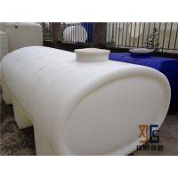 5000L食品级耐酸碱存放卧式水箱 5吨PE储罐 耐腐蚀化工运输罐