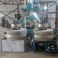 烟台五谷杂粮面粉石磨机收益高 1.2米全自动石磨机 自动包装机