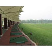 篮球场膜结构高尔夫打球场张拉膜PVC羽毛球场遮阳棚