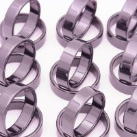 6mm宽单圈光面戒指精密氧化锆陶瓷戒子配件厂家加工小红人组装件