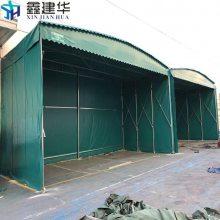 柯桥区订做大型货运移动折叠蓬/镀锌管推拉雨棚布/尼龙轮活动帐篷厂家