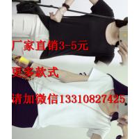 广州厂家清货印花女士T恤低价处理 韩版大码休闲T恤大量批发