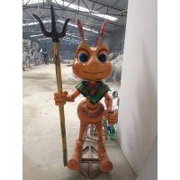 玻璃钢卡通雕塑蚂蚁兵雕塑