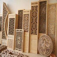 东阳木雕实木花格窗镂空雕花隔断玄关仿古门中式窗户定制仿古门窗