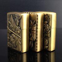 金属煤油打火机英雄联盟青铜人物浮雕 创意网吧定制 多款可选