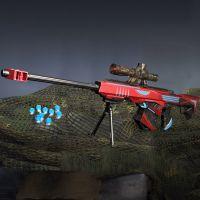 男孩巴雷特极光玩具枪 儿童软弹狙击枪灯光水弹枪CS对战亲子互动