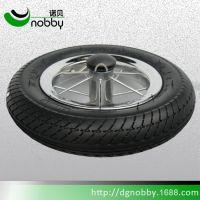 厂家生产10寸12寸焊接橡胶轮婴儿推车轮胎童车轮胎