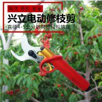 兴立828电动修枝剪、电动果树剪刀、大口径,大功率、进口机芯