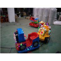 定制室内圆形轨道小火车 小型儿童游乐设备轨道小火车 公园儿童乐园电瓶电柜火车