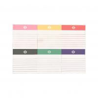 博艺印刷品-定制软底卡方形无封面彩色便签组合
