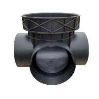hdpe塑料检查井流槽式三通井座315*200 污水井