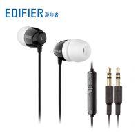 Edifier/漫步者 K210台式电脑耳机双插头入耳式游戏带麦YY语音2米