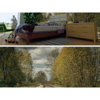 唯美花藤森林客厅卧室电视沙发背景墙装饰壁画 PVC家装壁纸 家具壁画 田园风格壁画厂家直销