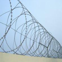 报警刀片刺网 小区防盗刺网 带电线防攀爬网