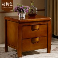 实木床头柜环保现代简约储物柜橡木整装床边收纳储物柜鑫平阁实木家具厂家直销