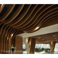 晋城市展厅包柱木纹转印铝方通_弧形弯曲铝通指定加工厂