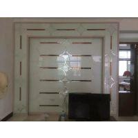 高档艺术玻璃背景墙 电视墙 个性定制 一套发货